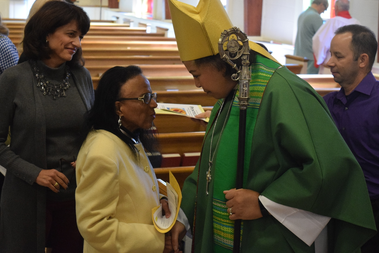 Greeting the New Bishop