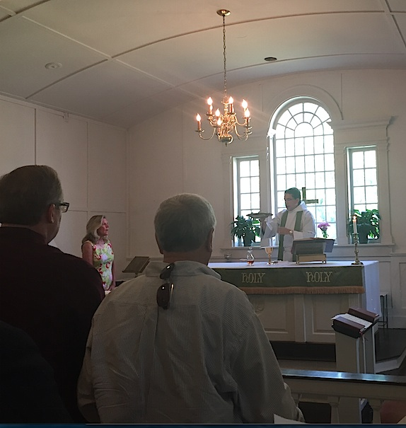 Service in our chapel, used in the summer and for the 8 am Eucharist