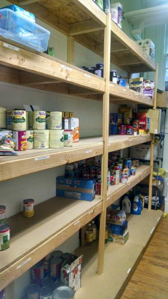 Holy Spirit Verona Food Pantry Shelves