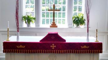 chapel altar red